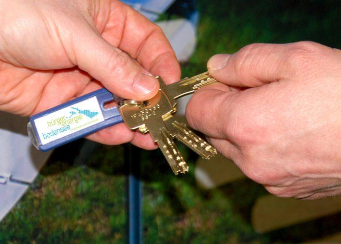 Schlüsselübergabe