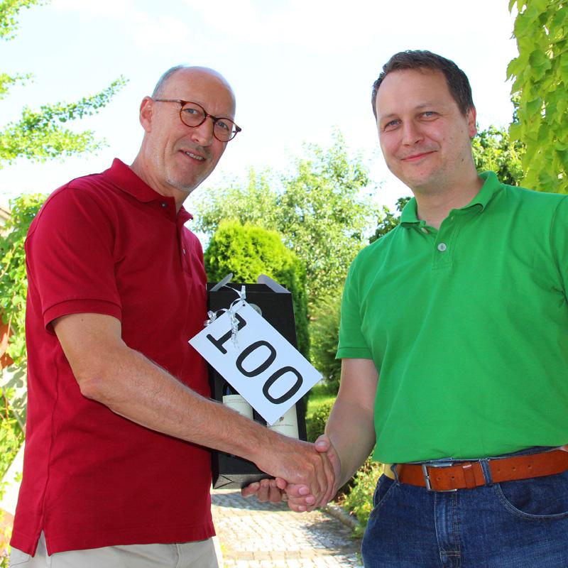 Die Genossenschaft Bürger-Energie Bodensee eG. begrüßt Mitglied Nummer 100.